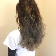 エレガント 透明感 グラデーションカラー 上品 ヘアスタイルや髪型の写真・画像
