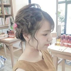 夏 花火大会 和装 ヘアアレンジ ヘアスタイルや髪型の写真・画像