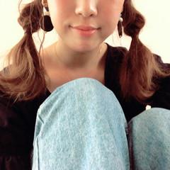 ツインテール ミディアム くるりんぱ 簡単ヘアアレンジ ヘアスタイルや髪型の写真・画像