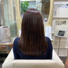 最新トリートメント ナチュラル セミロング 艶髪 ヘアスタイルや髪型の写真・画像