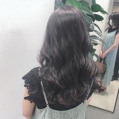 ラベンダーグレージュ 大人ロング ロング 暗髪女子 ヘアスタイルや髪型の写真・画像