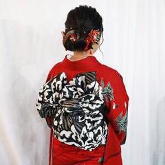 ヘアセット 振袖ヘア 成人式ヘア ミディアム ヘアスタイルや髪型の写真・画像