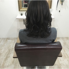 暗髪 冬 ハイライト ナチュラル ヘアスタイルや髪型の写真・画像