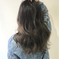 アッシュ ハイライト ガーリー 外国人風 ヘアスタイルや髪型の写真・画像