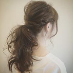 外国人風 ヘアアレンジ 大人かわいい ロング ヘアスタイルや髪型の写真・画像