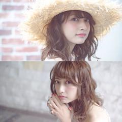 大人かわいい ピュア ミディアム フェミニン ヘアスタイルや髪型の写真・画像