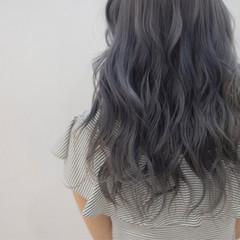 ブルージュ ミディアム ネイビー 透明感 ヘアスタイルや髪型の写真・画像