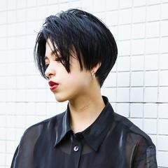 似合わせ ショート 黒髪 かっこいい ヘアスタイルや髪型の写真・画像