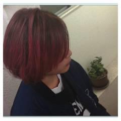 ショート グラデーションカラー カラーバター ヘアスタイルや髪型の写真・画像