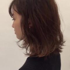 透明感 オフィス ナチュラル 冬 ヘアスタイルや髪型の写真・画像