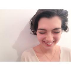 簡単ヘアアレンジ ミディアム パーティ グラデーションカラー ヘアスタイルや髪型の写真・画像