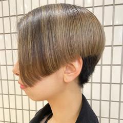 ブリーチオンカラー ナチュラル ショート ブリーチ ヘアスタイルや髪型の写真・画像
