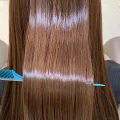 髪質改善カラー 艶髪 ロング ナチュラル ヘアスタイルや髪型の写真・画像