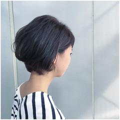 ショート ショートボブ ボブ アッシュグレージュ ヘアスタイルや髪型の写真・画像