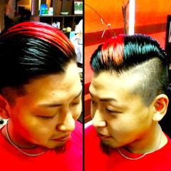 ボーイッシュ 坊主 メンズ レッド ヘアスタイルや髪型の写真・画像