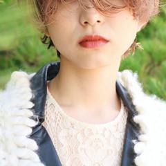 ピンクベージュ ショート ピンクアッシュ ハンサムショート ヘアスタイルや髪型の写真・画像