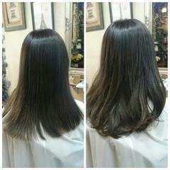 ハイライト ブラウン 外国人風 アッシュ ヘアスタイルや髪型の写真・画像
