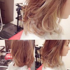 ミディアム 渋谷系 ガーリー ハイライト ヘアスタイルや髪型の写真・画像