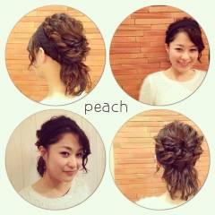 外国人風 ヘアアレンジ 波ウェーブ モテ髪 ヘアスタイルや髪型の写真・画像