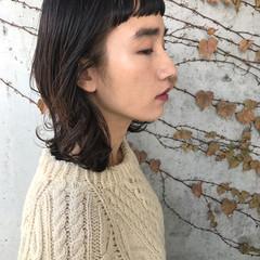 パーマ モード こなれ感 外ハネ ヘアスタイルや髪型の写真・画像