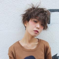 ショート 大人女子 小顔 モード ヘアスタイルや髪型の写真・画像
