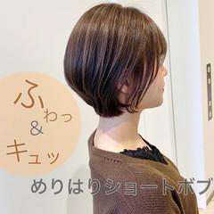 ナチュラル コスメ・メイク ミニボブ ショートボブ ヘアスタイルや髪型の写真・画像