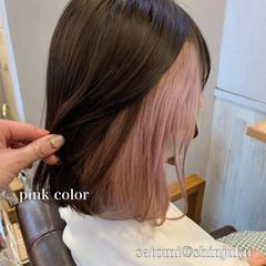 アンニュイほつれヘア ボブ ガーリー モテ髪 ヘアスタイルや髪型の写真・画像