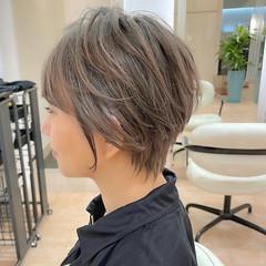 アッシュ アッシュベージュ ショート ベリーショート ヘアスタイルや髪型の写真・画像