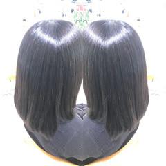 アディクシーカラー イルミナカラー 髪質改善トリートメント ミディアム ヘアスタイルや髪型の写真・画像