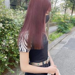 ピンクラベンダー ナチュラル ピンクアッシュ ピンクブラウン ヘアスタイルや髪型の写真・画像