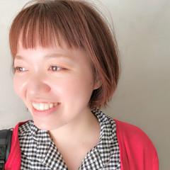 ショート 束感バング ショートボブ ワイドバング ヘアスタイルや髪型の写真・画像