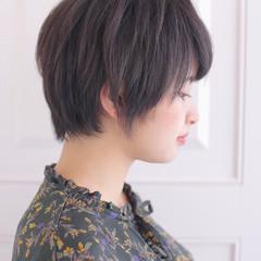 ショート 黒髪 かっこいい ボーイッシュ ヘアスタイルや髪型の写真・画像