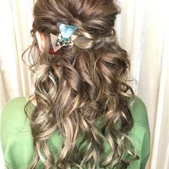 簡単ヘアアレンジ 結婚式 ナチュラル ヘアアレンジ ヘアスタイルや髪型の写真・画像