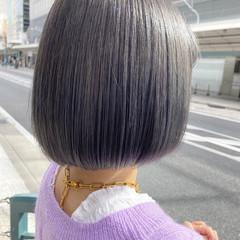 ブリーチカラー アッシュグレージュ ブリーチ ボブ ヘアスタイルや髪型の写真・画像