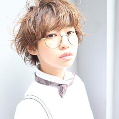 くせ毛風 ナチュラル ハイライト かっこいい ヘアスタイルや髪型の写真・画像