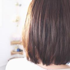 アッシュ ロブ ミディアム ボブ ヘアスタイルや髪型の写真・画像