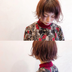 ピンク レッド 簡単ヘアアレンジ ヘアアレンジ ヘアスタイルや髪型の写真・画像