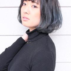 ブルーアッシュ グラデーションカラー ガーリー アッシュグラデーション ヘアスタイルや髪型の写真・画像