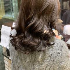 前髪パーマ 無造作パーマ デジタルパーマ セミロング ヘアスタイルや髪型の写真・画像