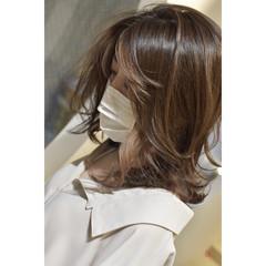 コントラストハイライト ミディアム モード 3Dハイライト ヘアスタイルや髪型の写真・画像