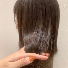 ショコラブラウン ナチュラル ミディアム ブラウンベージュ ヘアスタイルや髪型の写真・画像