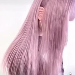 ラベンダーカラー ベリーピンク ナチュラル ピンクベージュ ヘアスタイルや髪型の写真・画像
