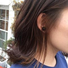 ミディアム ダブルカラー インナーカラー アンニュイ ヘアスタイルや髪型の写真・画像