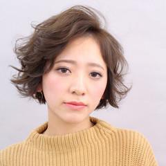 こなれ感 パーマ 大人かわいい 小顔 ヘアスタイルや髪型の写真・画像
