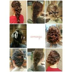 ヘアアレンジ 冬 フェミニン セミロング ヘアスタイルや髪型の写真・画像