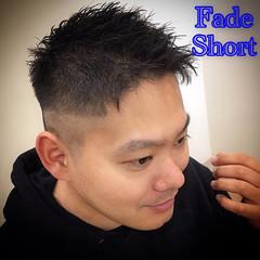 メンズ フェードカット ショート スキンフェード ヘアスタイルや髪型の写真・画像