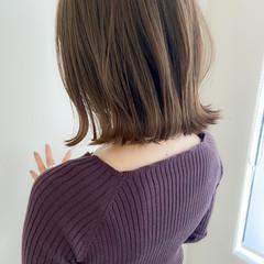 アンニュイほつれヘア ナチュラル アッシュグレージュ ボブ ヘアスタイルや髪型の写真・画像