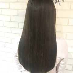 トリートメント ロング 縮毛矯正 ナチュラル ヘアスタイルや髪型の写真・画像