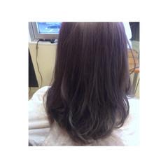 ミディアム ホワイト グラデーションカラー 外国人風カラー ヘアスタイルや髪型の写真・画像