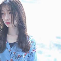 ナチュラル ロング 韓国ヘア ロングヘア ヘアスタイルや髪型の写真・画像